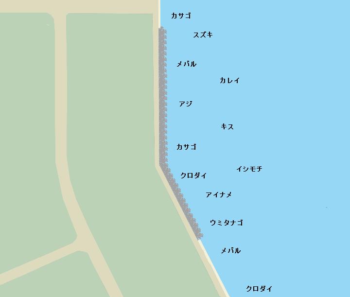 幸浦岸壁ポイント図