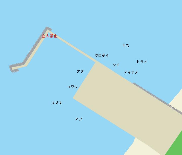 七里長浜港ポイント図