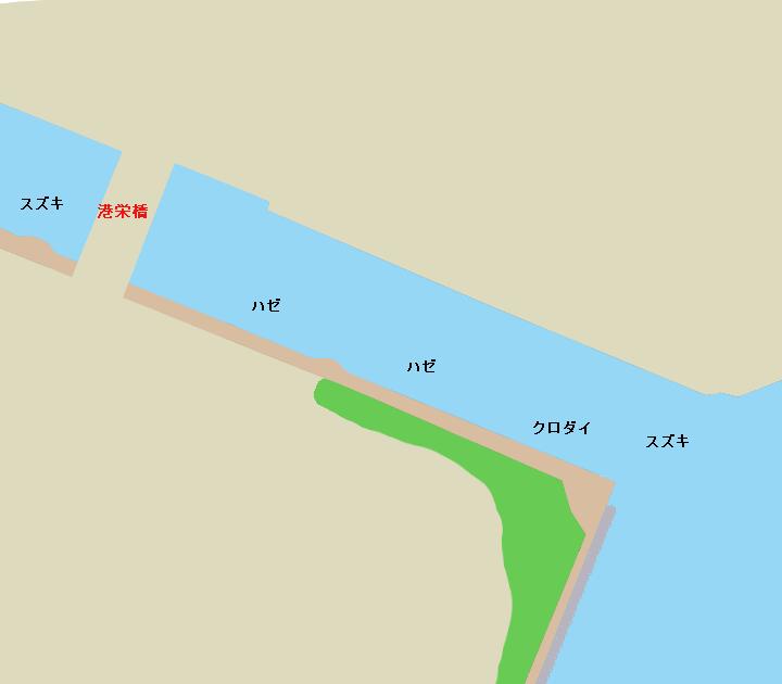 芝浦運河港栄橋周辺のポイント