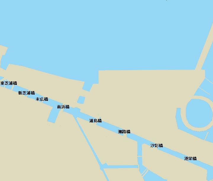 芝浦運河ポイント図