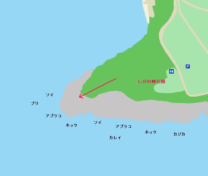 鮪ノ岬ポイント図