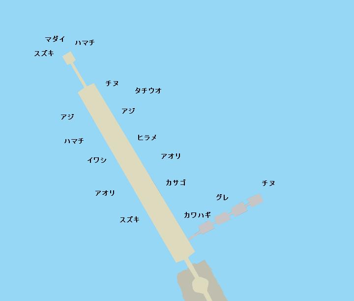 下津ピアーランドポイント図