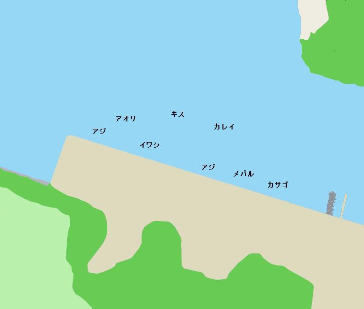 油壷白須護岸ポイント図