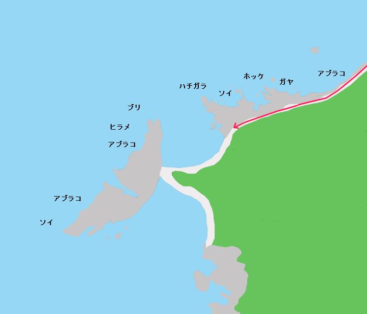 ジュウボウ岬のポイント