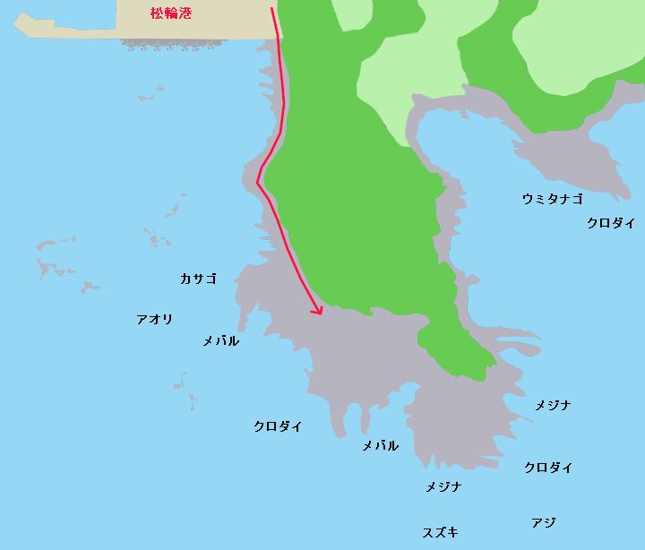 高磯ポイント図