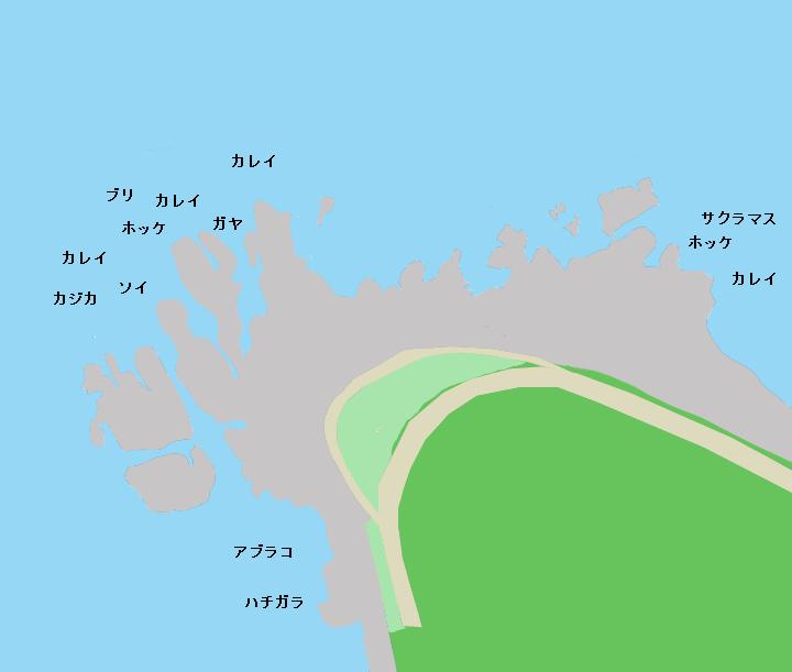 鷹ノ巣岬のポイント