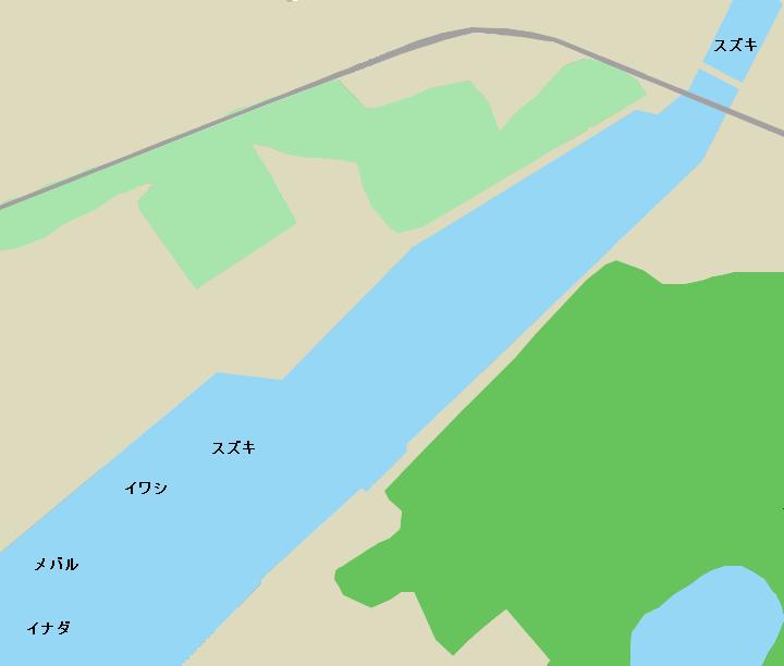 田名部川河口のポイント