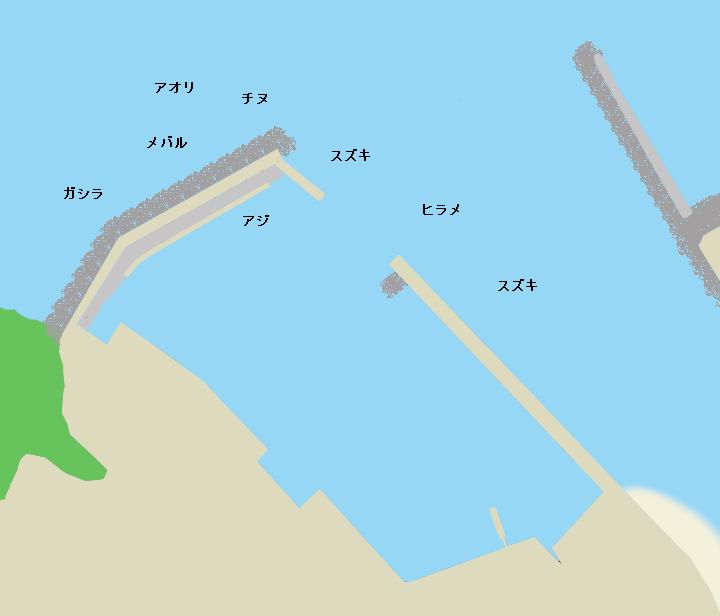 谷川港ポイント図