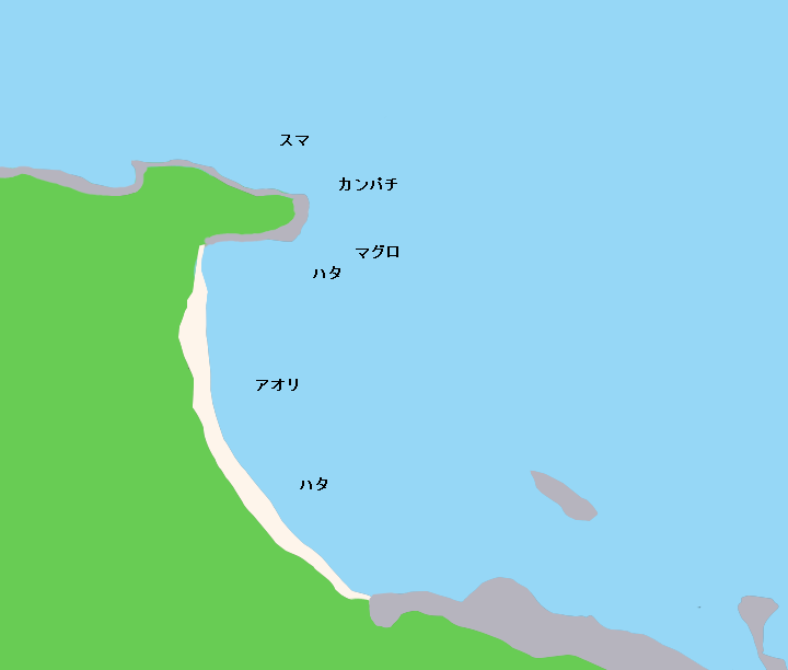 小笠原諸島父島釣浜ポイント図