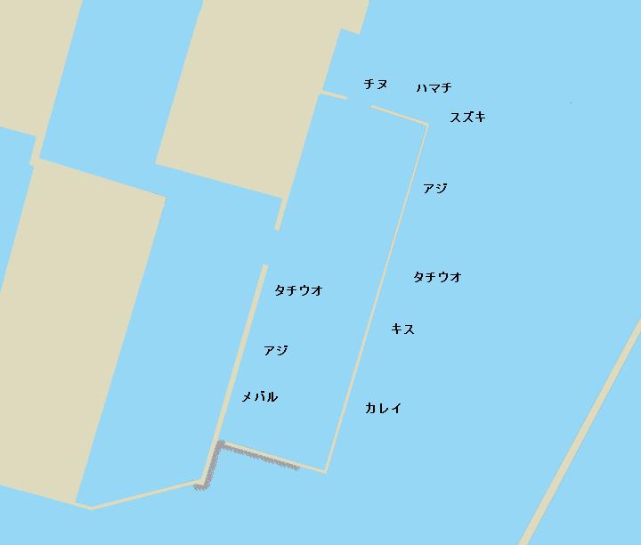 津田ジャンボ・南波止ポイント図