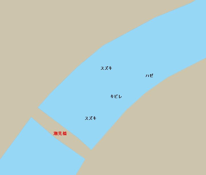 鶴見川潮見橋周辺のポイント