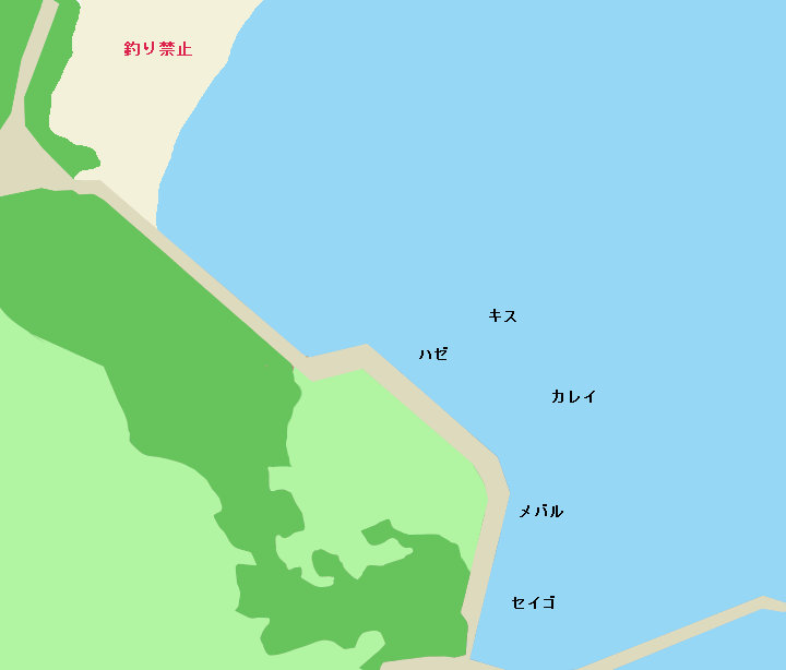 海の公園ポイント図