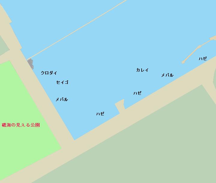 磯子海の見える公園ポイント図