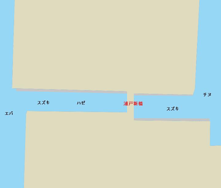 浦戸湾浦戸新橋付近のポイント