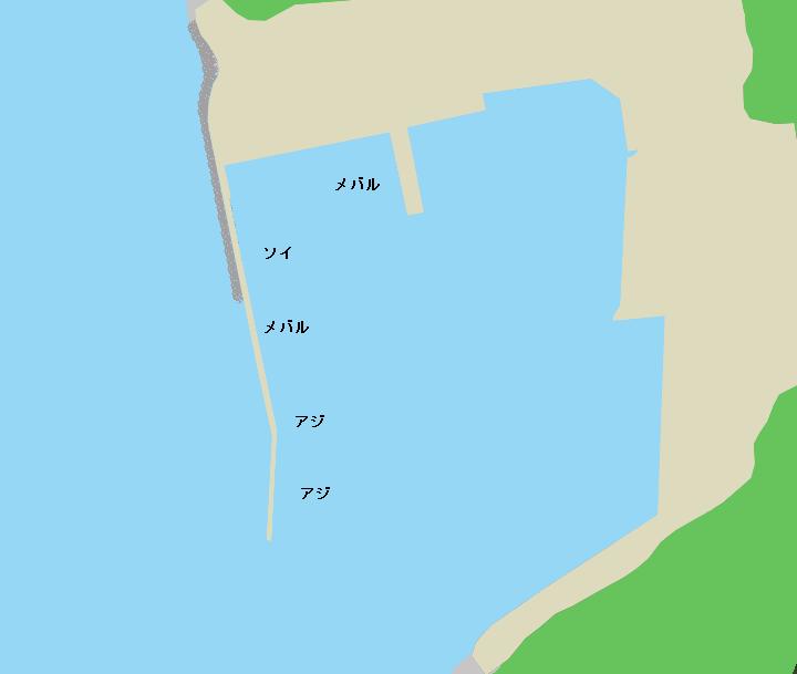浦田漁港ポイント図