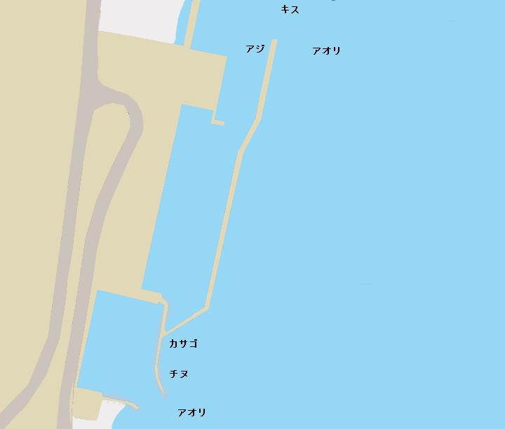 宇佐漁港(福島)のポイント