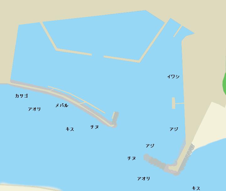 宇佐漁港ポイント図