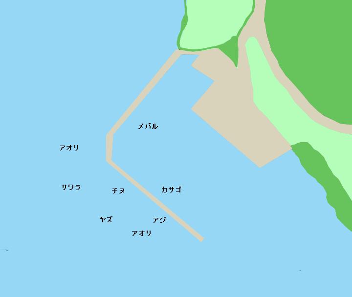 後平漁港のポイント
