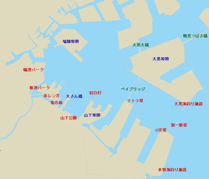 横浜港全体図