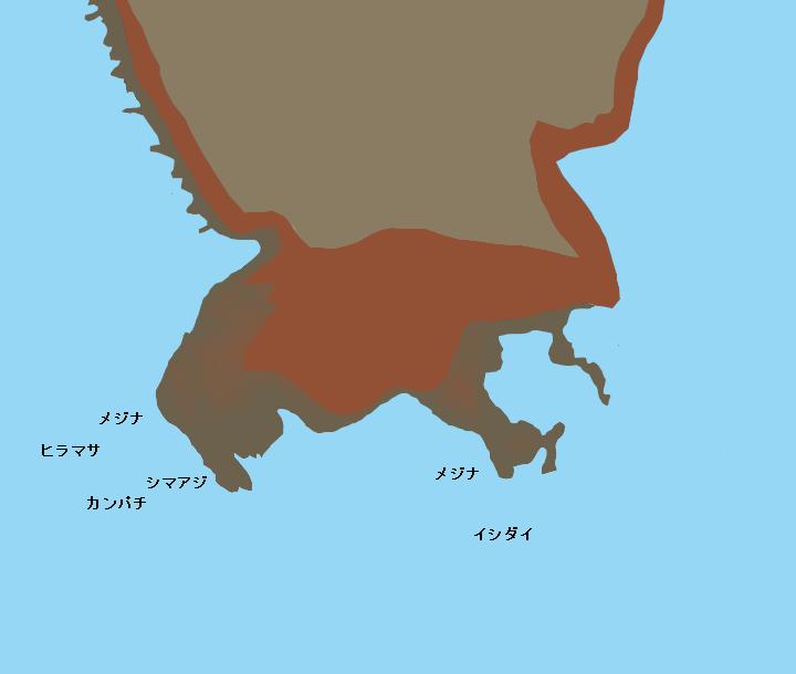 三宅島赤場暁ポイント図