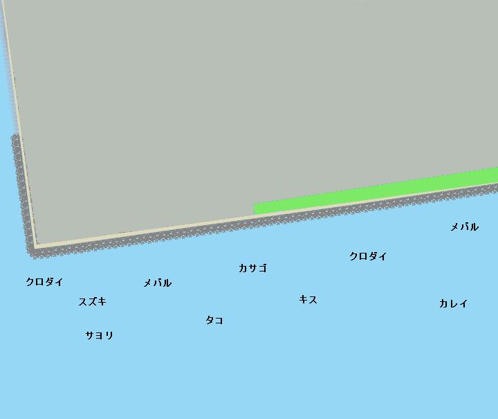 茜浜緑地ポイント図