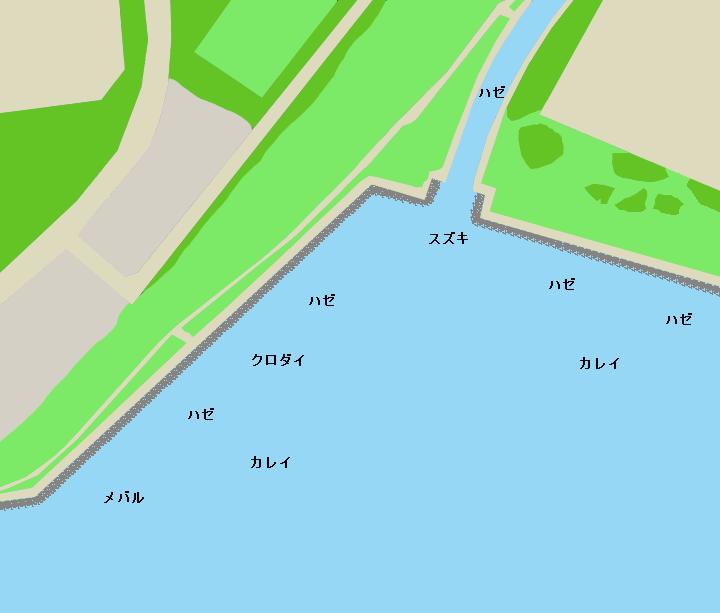 茜浜運動公園・海浜公園ポイント図