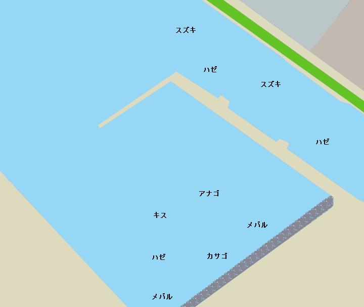 姉ヶ崎港ポイント図