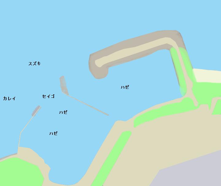 呑堀港ポイント図