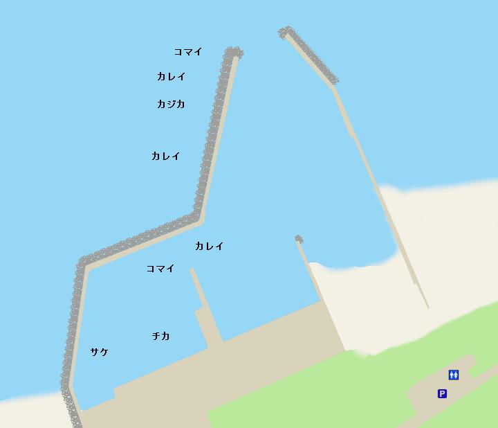 稚咲内漁港ポイント図