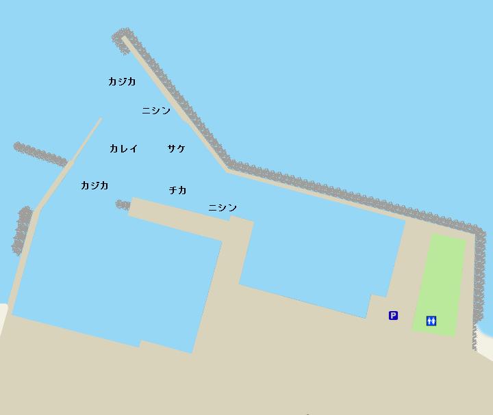 恵山泊漁港ポイント図