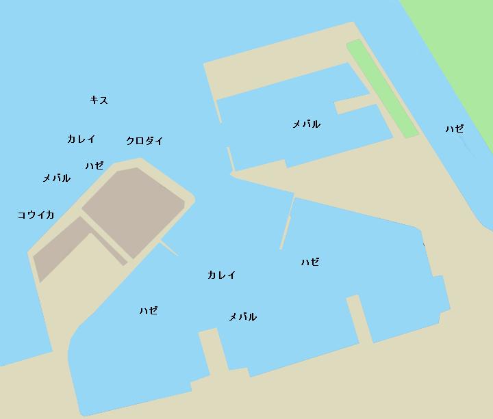 富津北港ポイント図
