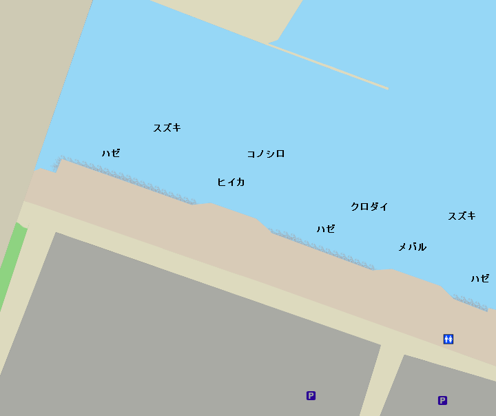 船橋港親水公園ポイント図