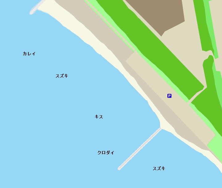 幕張の浜ポイント図