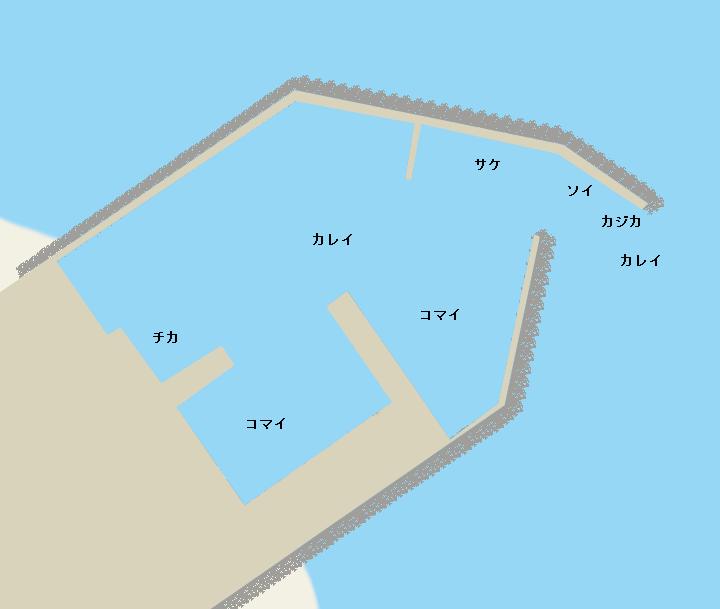 浜猿払漁港ポイント図