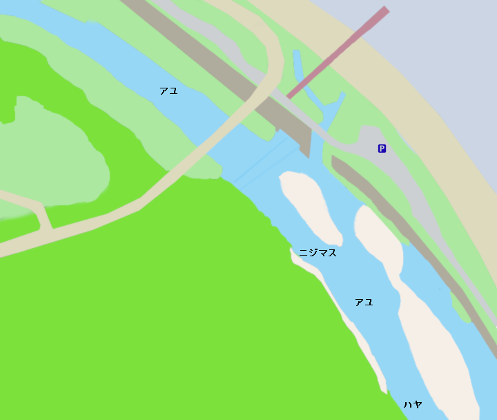 早川太閤橋周辺