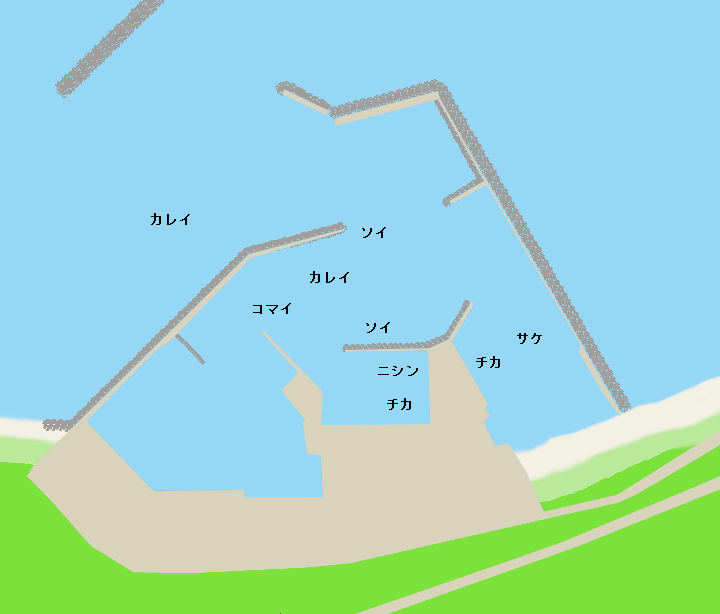 東浦漁港ポイント図