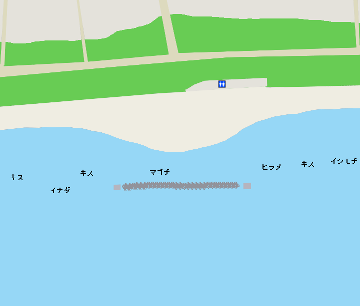 平塚海岸(ビーチパーク付近)ポイント図