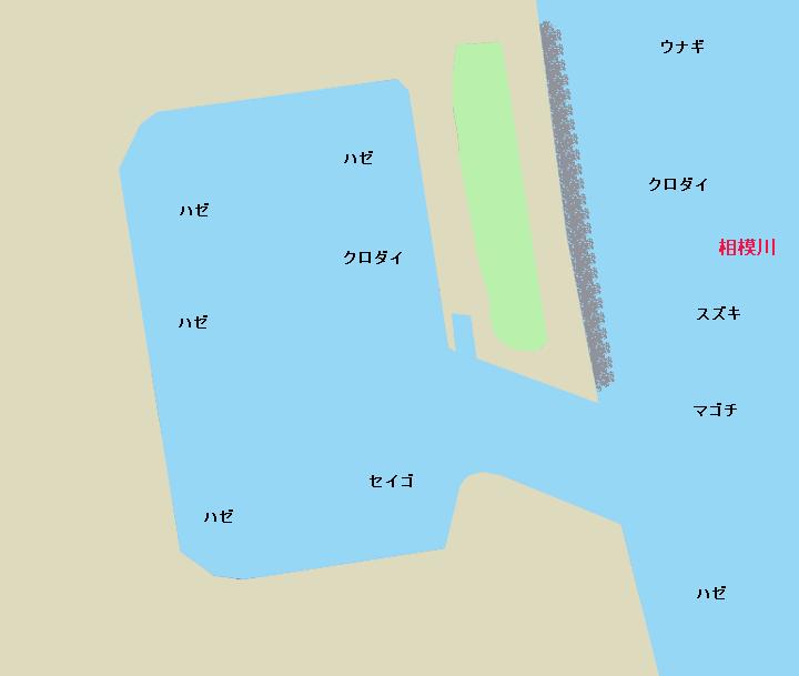 平塚漁港(須賀港)ポイント図