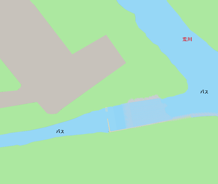 市野川荒川合流地点付近のポイント(バス)