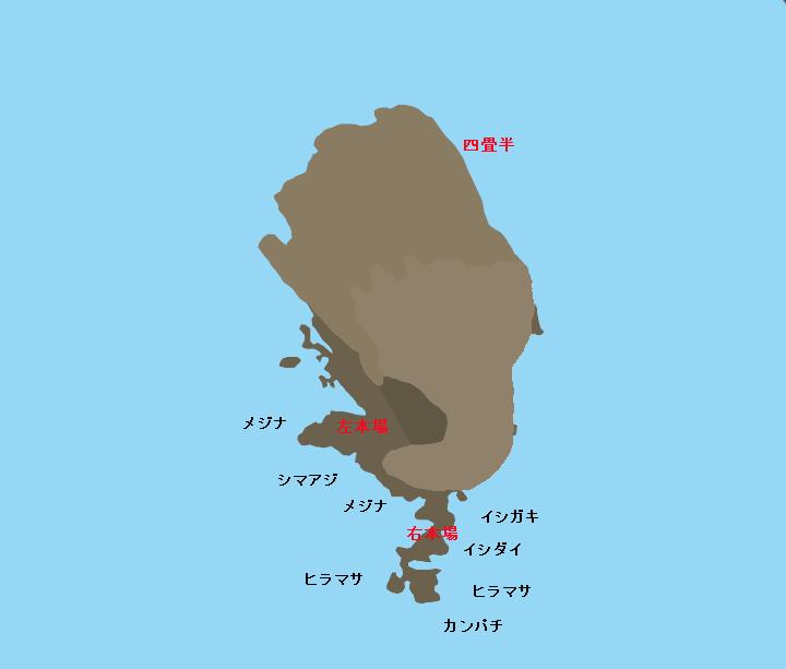イナンバ島ポイント図