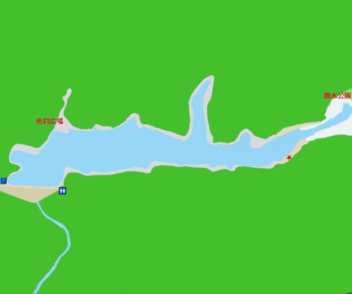 犬鳴ダムポイント図