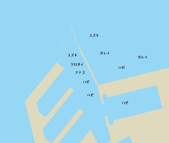 木更津金田港ポイント図