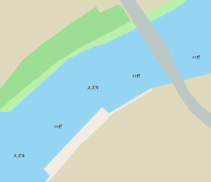 旧江戸川今井橋周辺ポイント図