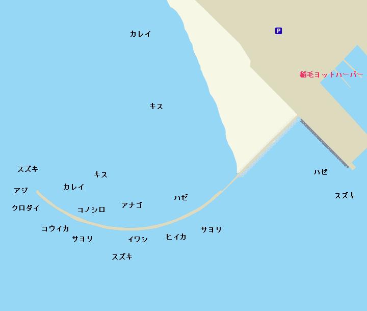 検見川浜突堤ポイント図
