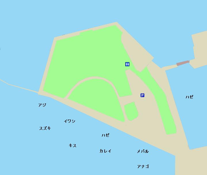 木更津内港公園ポイント図