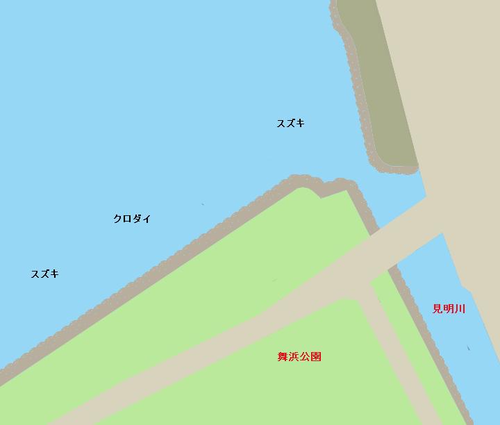 旧江戸川舞浜公園周辺
