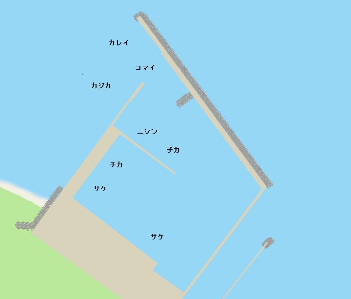 声問漁港ポイント図