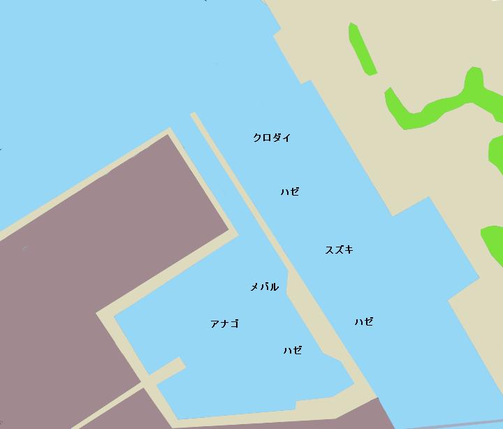 小糸川漁港ポイント図