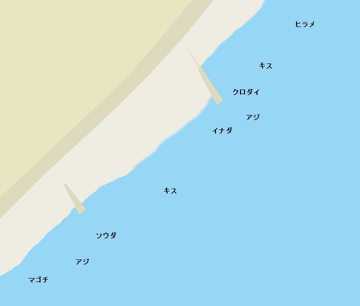小八幡海岸ポイント図