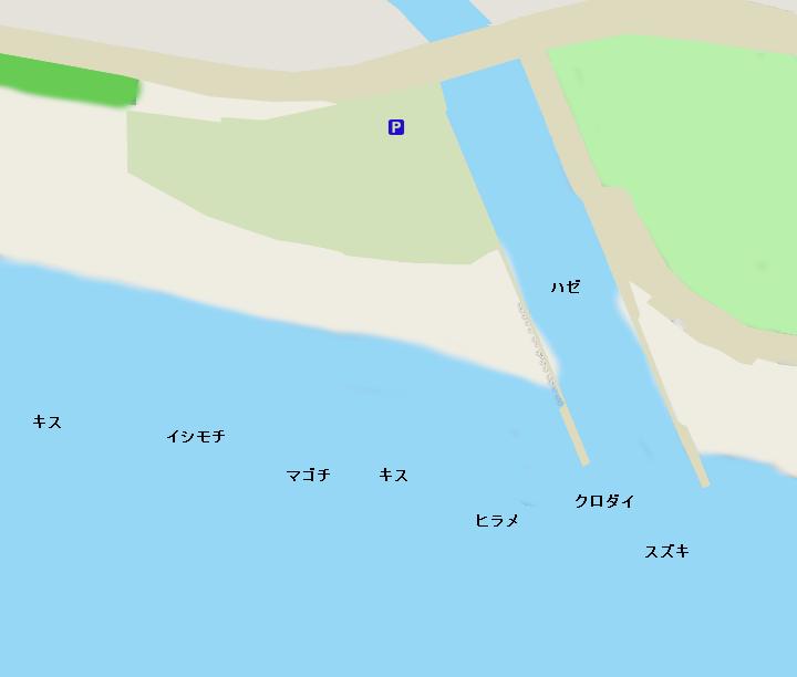 鵠沼海岸引地川河口